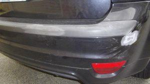 Textured Plastic Bumper Repair - Before