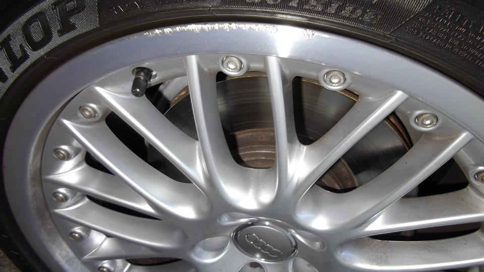 Polished Alloy Repairs Before