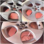 Refurbish peeling painted wheels.