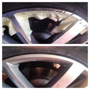 Wheel rash repair.