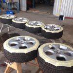 Off site wheel repairs in progress.